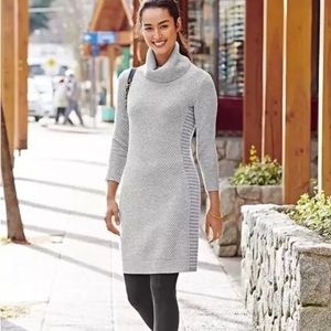 athleta spotlight merino cowl neck sweater dress